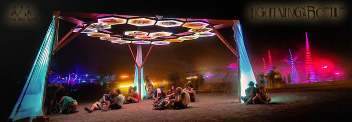 Transporter Burning Man Art Installation at Lighting in a Bottle