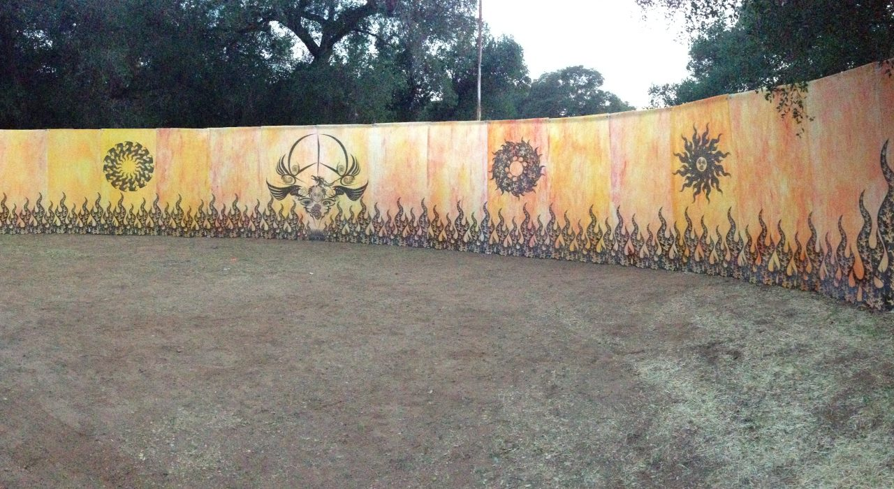 Lucidity Music Festival Art - Peace Wall Art Project