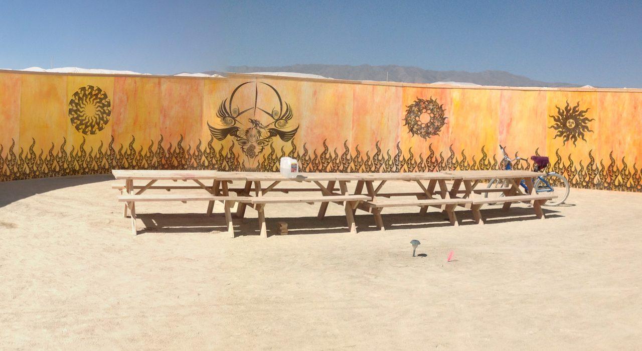 Burning Man - Peace Wall Art Project