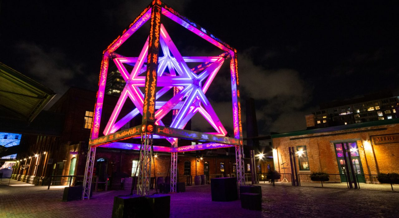 Burning Man Art, LED Art in Toronto Light Festival